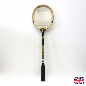 ヴィンテージ木製スカッシュラケット Vintage Wooden Sondico CLUB SUPER DEVIL Squash Racquet